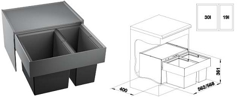 blanco select 60 2 e spotrebice. Black Bedroom Furniture Sets. Home Design Ideas
