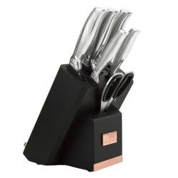 Berlinger Haus BH-2339 Black Rose sada nožov v stojane 7 ks