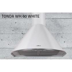 Elica TONDA WH F/60 biela + pochrómovaná predná lišta