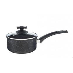 Kolimax Rajnica s rúčkou BLACK GRANITEC s pokrievkou, priemer 18cm, objem 2.0l