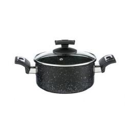Kolimax Rajnica BLACK GRANITEC s pokrievkou, priemer 18cm, objem 2.0l