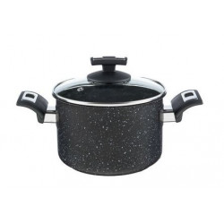 Kolimax Hrniec BLACK GRANITEC s pokrievkou, priemer 18cm, objem 3.0l