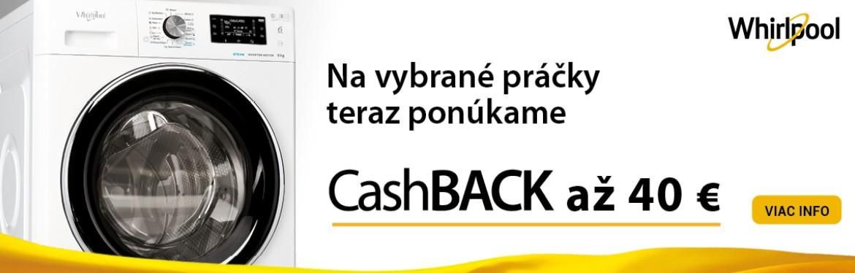 Whirlpool CashBack na práčky FreshCare+