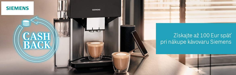 SIEMENS CASHBACK Kávovar 2020
