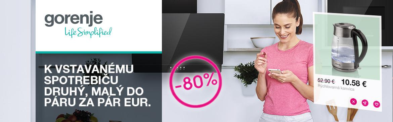 Gorenje Získajte k nákupu 80 % zľavu na malý spotrebič