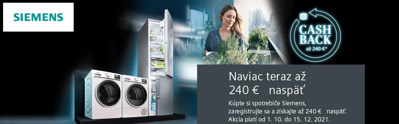 Siemens CASHBACK na chladničky, práčky, sušičky  Q42021